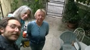 La maman de Nikolaj, qu'on a dormi chez elle a Santa Cruce, et qu'on a vachment bien dormi et bu la ptite mirabelle maison