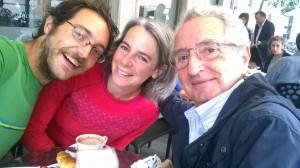 Avec Gianfranco qui nous offre le café a Udine, et s'echappe. Gentlemen ces italiens.