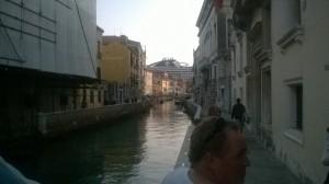Les ferries a Venise. Ben ça fait de l'ombre
