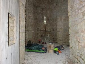 Nuit dans une chapelle