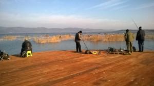 Lac de Dojran, juste avant la frontière grecque