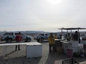 Touristes coréens en grande pompe
