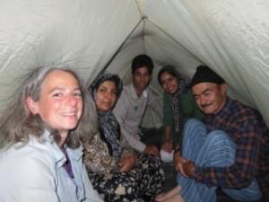 Démonstration du montage de la tente